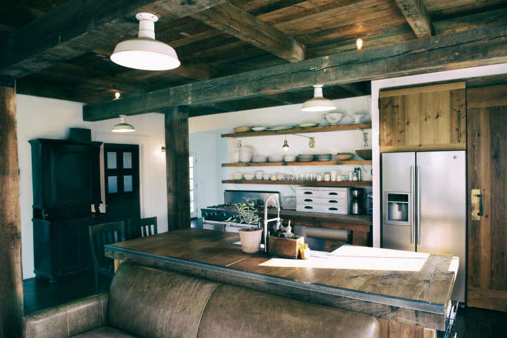 Open Shelving In The Kitchen Above Stove