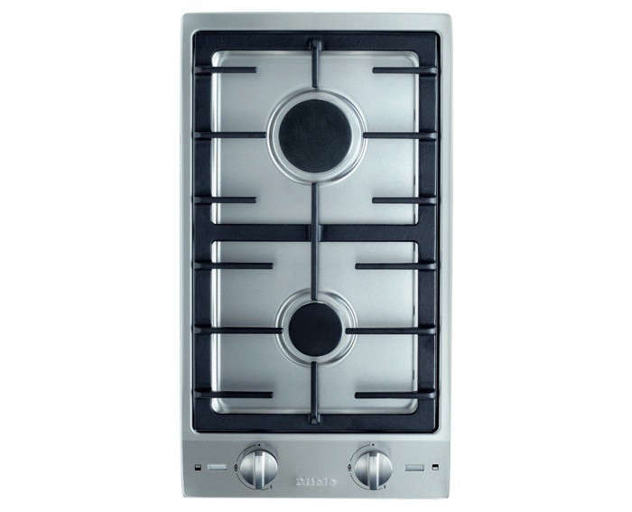 Above The Demure Miele Double Combiset Gas Cooktop Measures Just 12 Inches Wide Designed To Coordinate With Other Built In Independent Cooking Modules