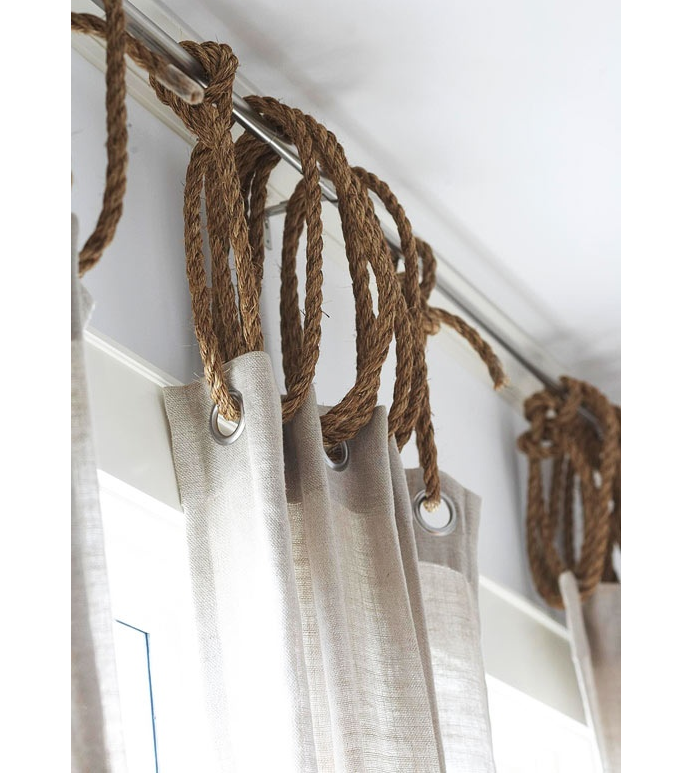 DIY: Rope as Curtain Ring - Remodelista
