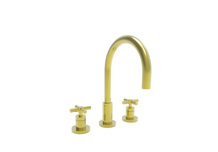 newport brass 9911 east linear double handle widespread kitchen faucet