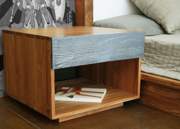 Above  From Mash Studio s PCH Series  named after California s Pacific  Coast Highway   the High Night Table is solid teak with a cast aluminum  drawer. 10 Easy Pieces  Modern Wood Bedside Tables   Remodelista