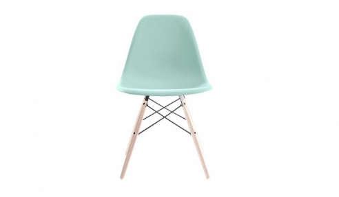 Eames Molded Plastic Dowel Leg Side Chair