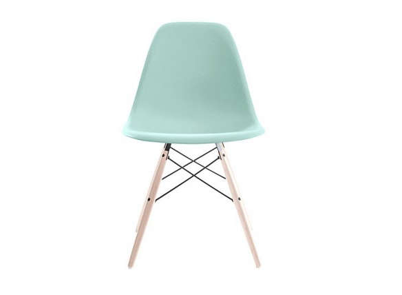 Eames molded plastic dowel leg side chair for Eames dowel leg side chair
