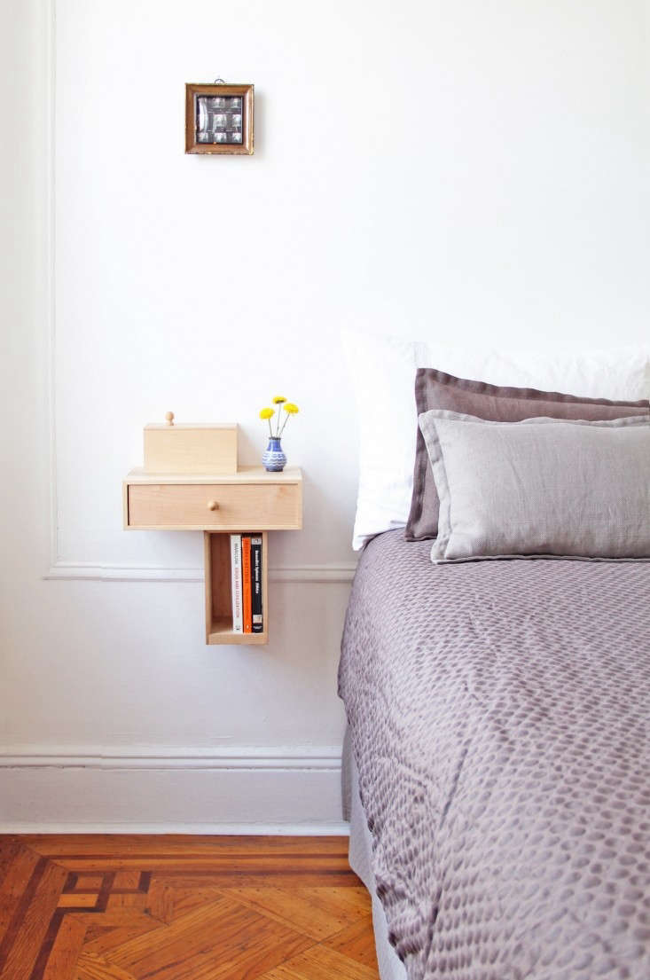 Compact Bedside Table 5 favorites: bedside shelves (in lieu of tables) - remodelista