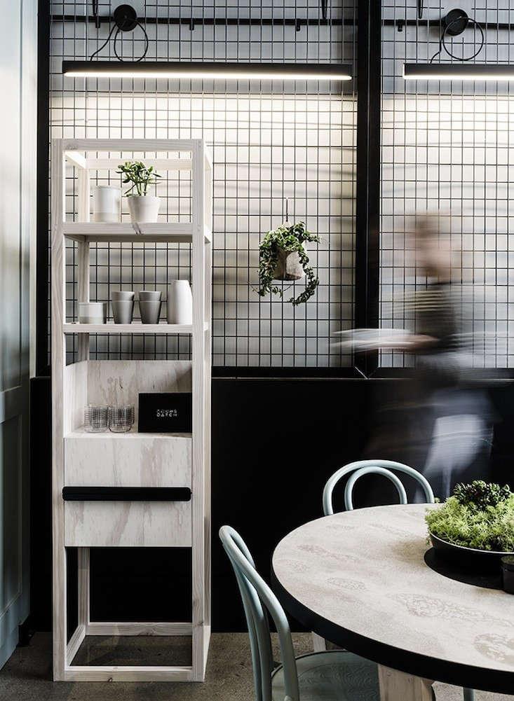 Patch cafe a playful custom built restaurant in melbourne for Design industry melbourne