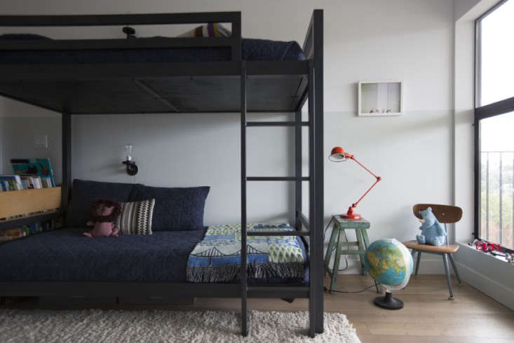 industrial loft twin-over-twin bunk bed