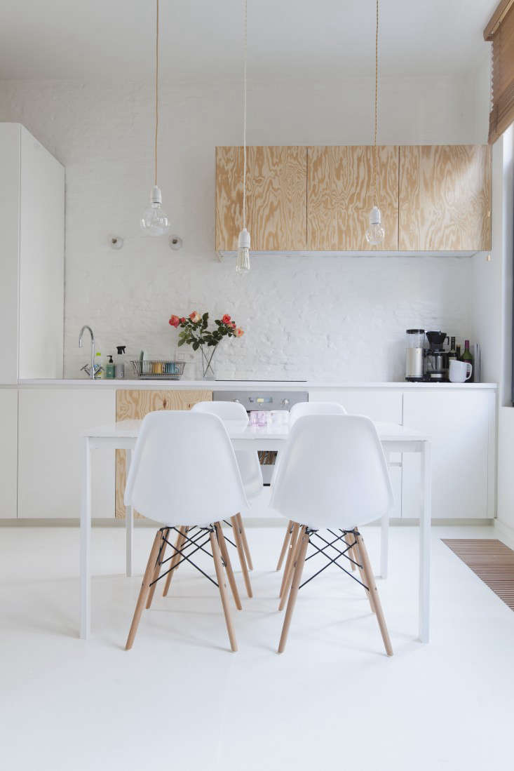 A Particle Board Floor Painted White In The Perfect Studio Apartment Budget