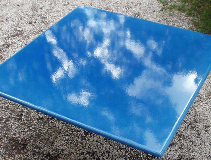 Glazed Lava Stone Tabletops, Such As This Blue French Lava Stone Tabletop,  Available To