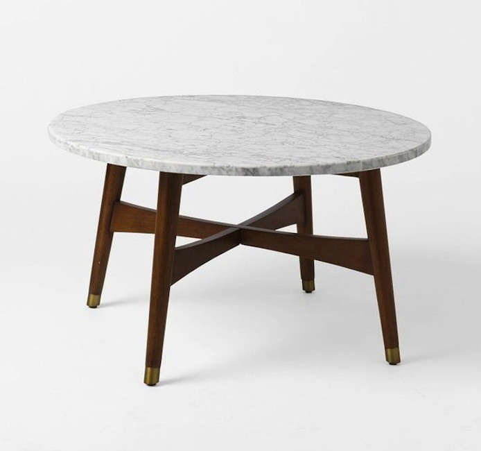 Low. Above: The Free Range Coffee Table features a honed marble top ... - High/Low: Marble-Topped Coffee Tables - Remodelista