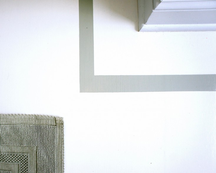 A corner detail in my bathroom with a Cotton Woven Bath Rug from Restoration Hardware; $50 to $170, depending on size.