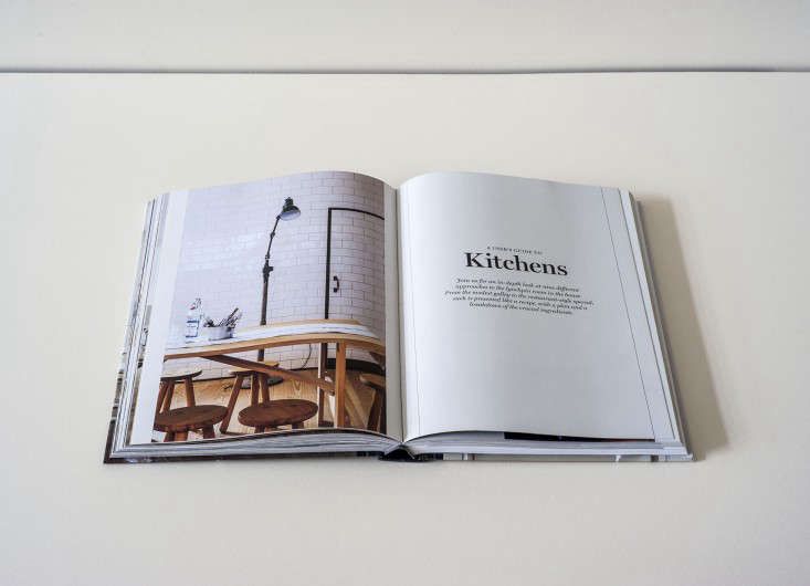 Remodelista Book open to the Kitchen chapter