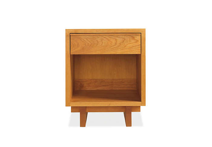 Above  Inspired by the work of George Nakashima  the Anders Nightstand is  made by Vermont artisans using mortise and tenon joinery. 10 Easy Pieces  Modern Wood Bedside Tables   Remodelista