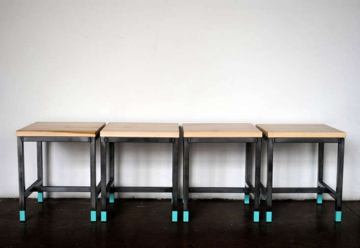 Above: The Front Stools That Populate Etsy Headquarters In Dumbo, Brooklyn,  Have A Dip Dyed Look. Theyu0027re 18 Inches Tall, 15 Inches Wide, And $375 Each.