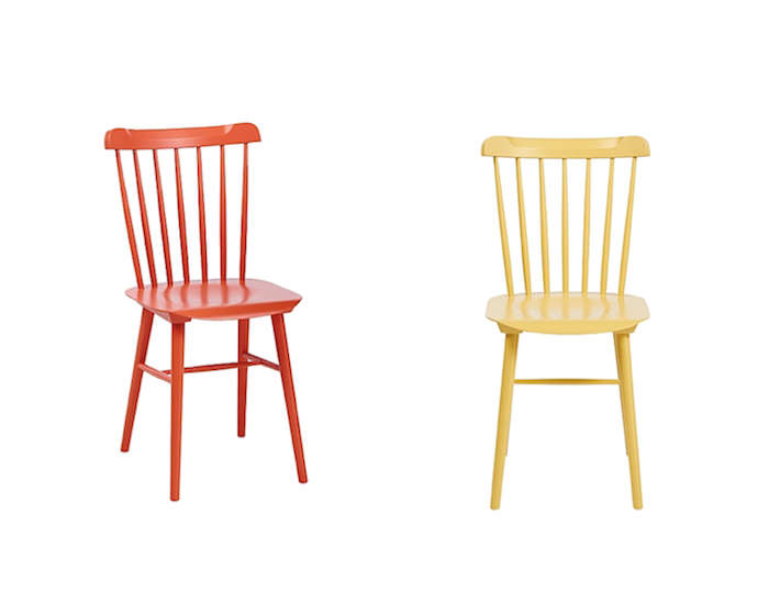 Above Measuring 33.5 inches overall in height and 17.5 inches Tucker Chairs are $185 each.  sc 1 st  Remodelista & Colorful Classic Chairs on a Budget - Remodelista