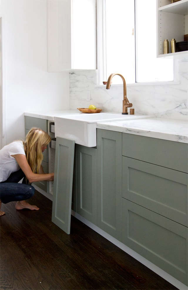 Painting Kitchen Cabinets, Painted Kitchen Cabinets, Paint Kitchen Cabinets.  Sarah Sherman Samuelu0027s Ikea