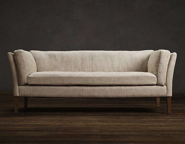 Above: The 5 Foot Long Sorensen Upholstered Sofa From Restoration Hardware,  Inspired By The Midcentury Designs Of Ole Wanscher, Starts At $1,080 ...