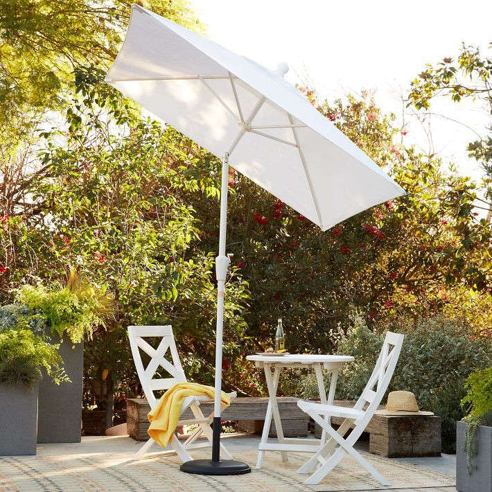 Above: The Classic 9 Foot Round Sunbrella Has An FSC Certified Eucalyptus  Wood Frame With A Sunbrella Shade In Sulfur; $319 From Crate U0026 Barrel.