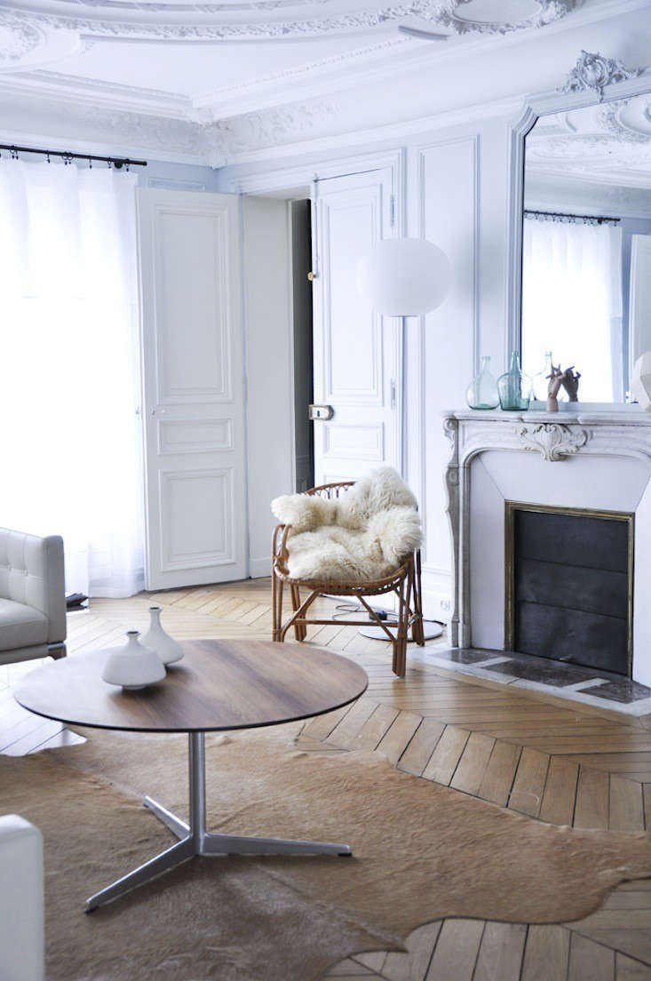 paris living room. A Grand but Understated Flat in Paris  Remodelista