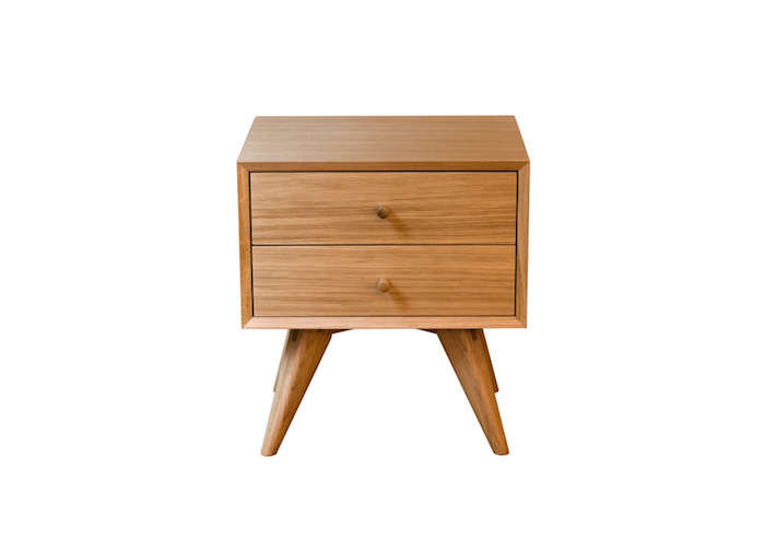 above exclusive to design within reach the american modern side table is made in the us from solid walnut or maple and features a single softclosing