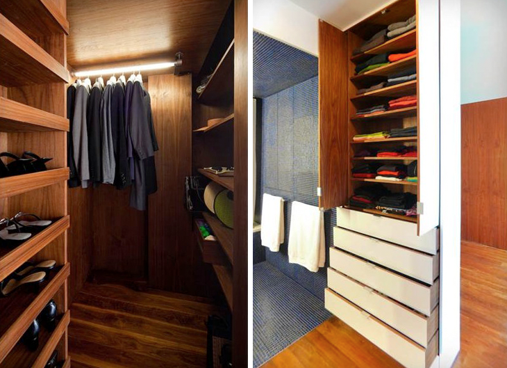 Above: In A Clientu0027s 650 Square Foot Chelsea Loft, Robert Garneau Of Studio  Garneau Designed An Efficient Closet And Shelving System Replete With  Pull Down ...