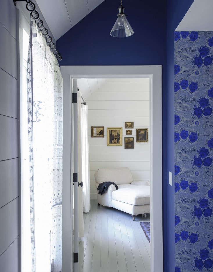 An Yves Klein look-alike is just one of many blue hues in stylist Tiina Laakonen's Hamptons house; seeRhapsody in Blue: A Finnish Stylist at Home in the Hamptons.