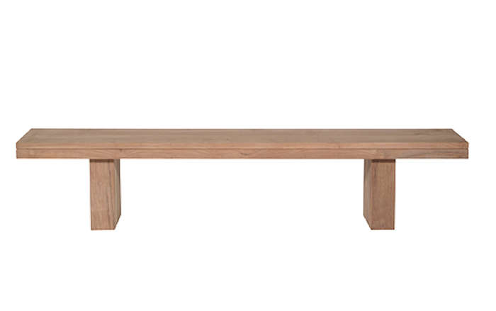Above Crate Barrel S Sur Bench In 48 Inches 699 And 71 5 799 Is Made With European White Oak A Waxed Finish