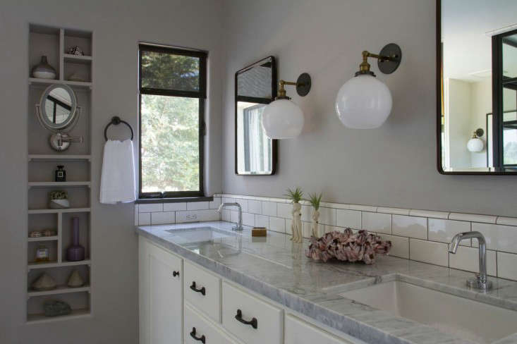 Before after a brooklyn inspired bath in los angeles remodelista - Bathroom designs los angeles inspired ...