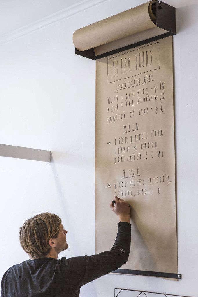 Blank Slate Wall Mounted Kraft Paper Remodelista