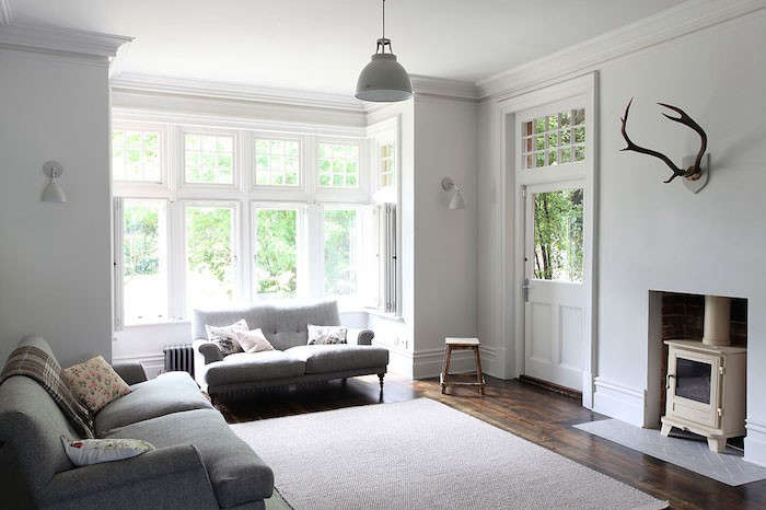 Shutters Are An Effective Window Treatment When Wall Space Is Tight. This  London Living Room