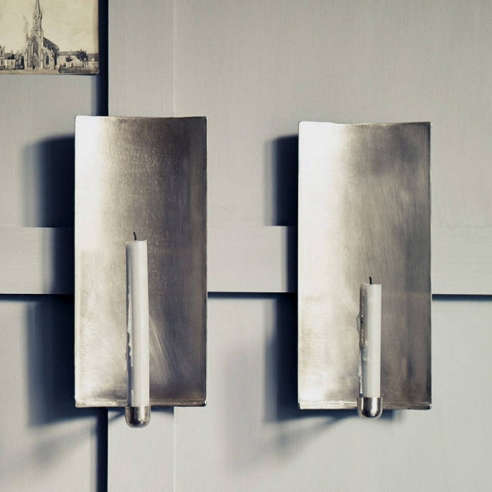Not On The High Street Industrial Wall Light : Abel Brushed Wall Sconce