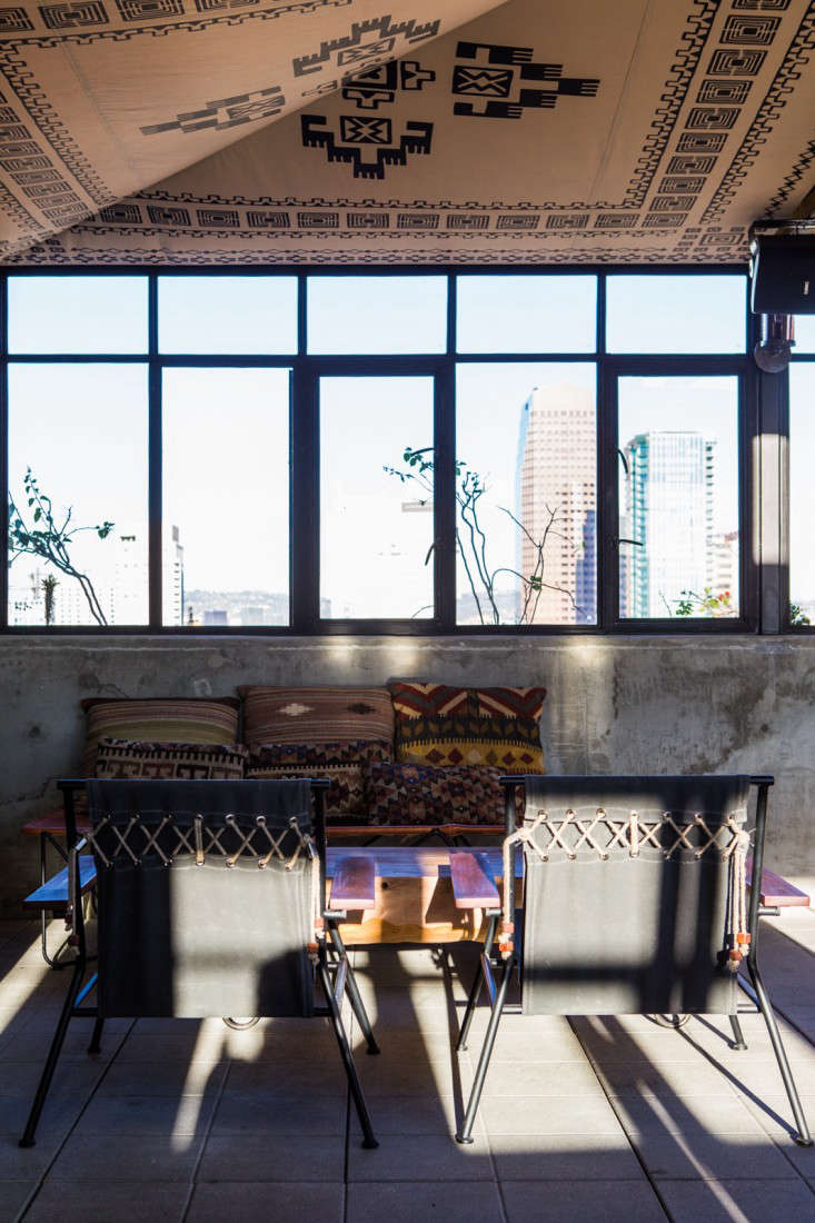Above all of the ace hotels have furniture that makes clever use of canvas a nod to the chains practical chic approach to design