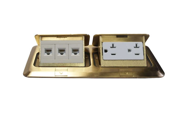 Above The Pop Up Orbit Br Floor Box With Duplex Receptacle And Rj45 For Phone Ethernet Cable Is 149 50 From Alcon Lighting