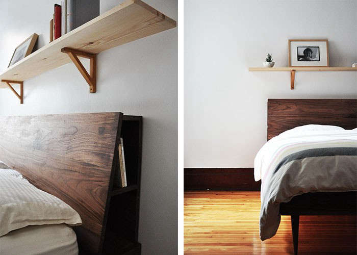 Five Favorites: Wooden Beds with Angled Headboards