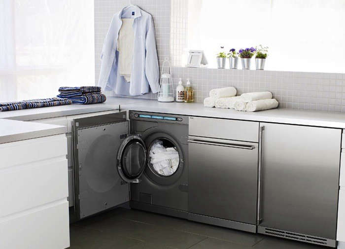 Little giants compact washers and dryers remodelista for Under cabinet washer and dryer