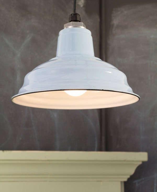 Above The Ivanhoe Bomber Porcelain Pendant; $148. & Made in America: Classic Porcelain Enameled Lighting from Barn ... azcodes.com