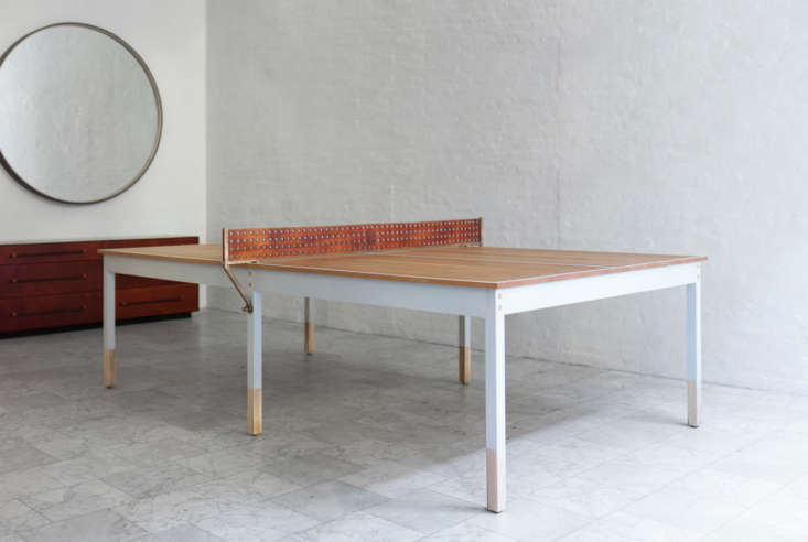 turn your dining room table into ping pong converts to top for