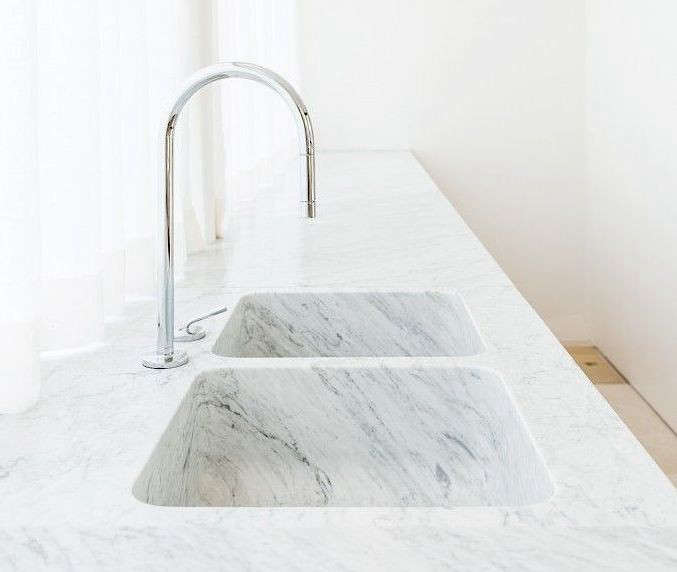 Trend Alert  Integrated Marble Kitchen Sinks Remodelista - Marble kitchen sinks