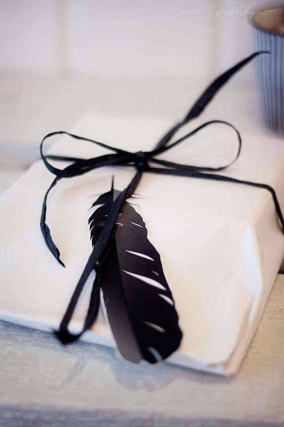 Having a Moment: Black Gift Wrap
