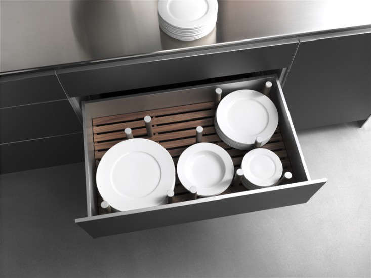 A Deep Drawer With Pegs For Plate Storage From German Company Bulthaup