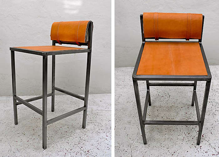 Superb 10 Easy Pieces Leather Barstools Remodelista Machost Co Dining Chair Design Ideas Machostcouk