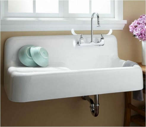 Cast Iron Wall Hung Kitchen Sink