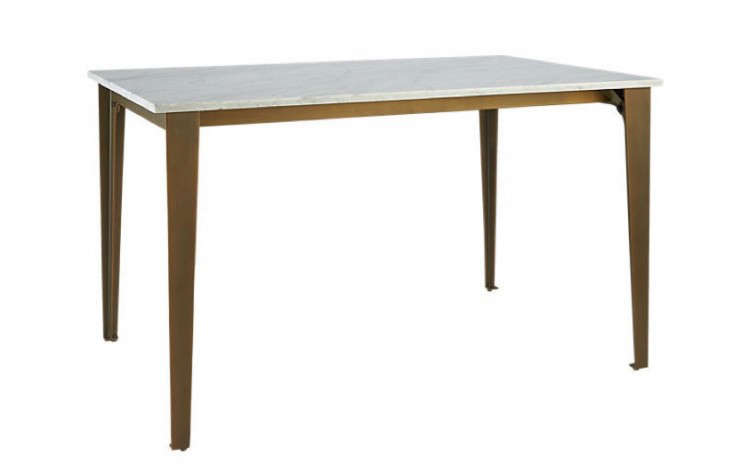 Paradigm Dining Table - Cb2 marble dining table
