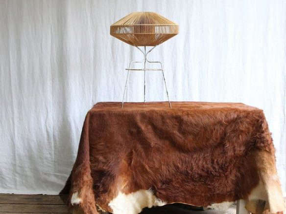 DIY: Cowhide As Table Covering
