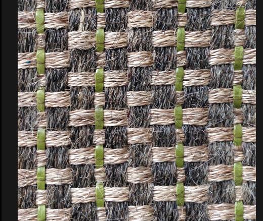 Horsehair Jute Avocado Leather Rugs
