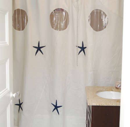 Recycled Sailcloth Shower Curtain With Graphics