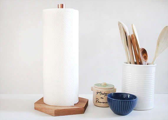Diy A Genius And Glamorous Paper Towel Holder Remodelista