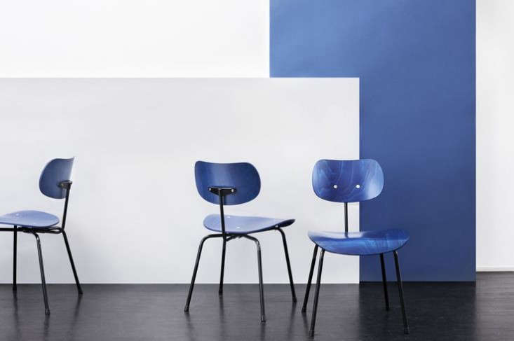 Above: The Eiermann Chair SE 68 SU In A Blue Stain With A Black Frame; Itu0027s  Also Available In Beech, Black Stained Beech, Dark Green Stained Beech, ...