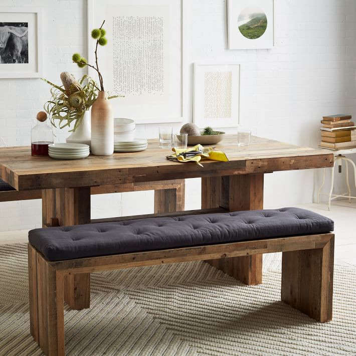 Emmerson Reclaimed Wood Bench - West elm emmerson reclaimed wood coffee table