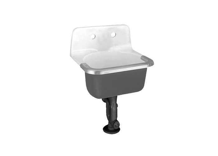 Above: For An Industrial Retro Look, Consider The American Standard  Enameled Cast Iron Wall Hung Sink; $434.87 At EFaucets.