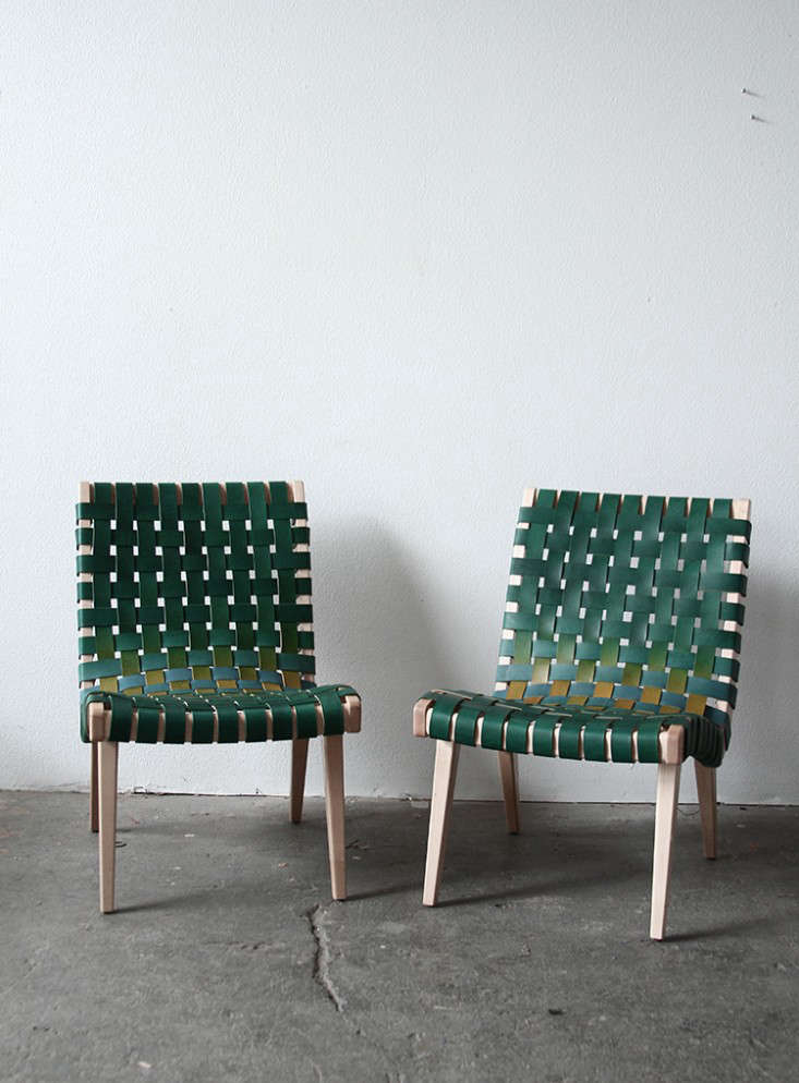 Above: Trine Rewrapped A Pair Of Jen Risom Chairs In Leather For A Project  For Nike.